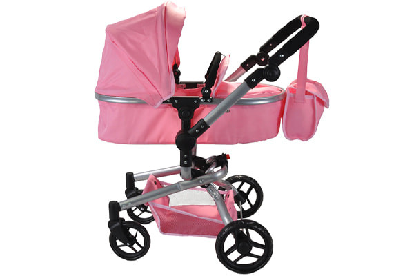 Poppenwagen Classic Angel 2in1 softpink