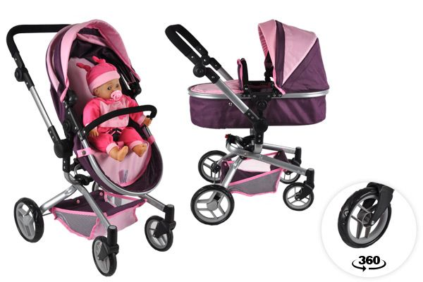 Poppenwagen en buggy 2in1.